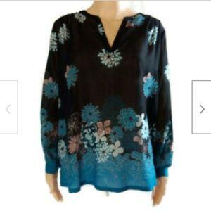 Loft blue sheer lightweight tunic shirt size SP
